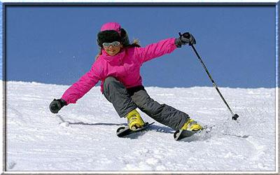 Обучение детей катанию на лыжах