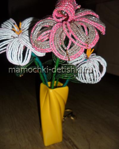 Цветы из бисера: мастер-класс, фото, Воспитание детей, здоровье детей, беременность и роды