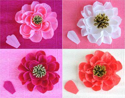 Цветы из гофрированной бумаги