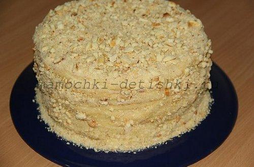 Торт со сгущенкой на сковородке