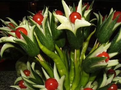 Цветы из овощей