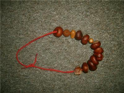 Ожерелье своими руками из каштанов