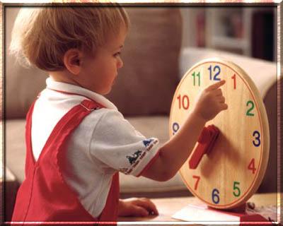 Как научить ребенка времени?
