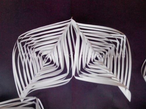 объемным снежинки из бумаги своими